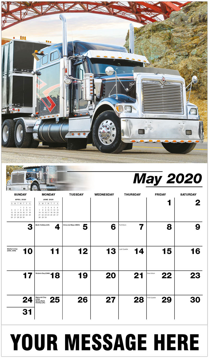 2020 Promo Calendar - 2015 International 9900I - May