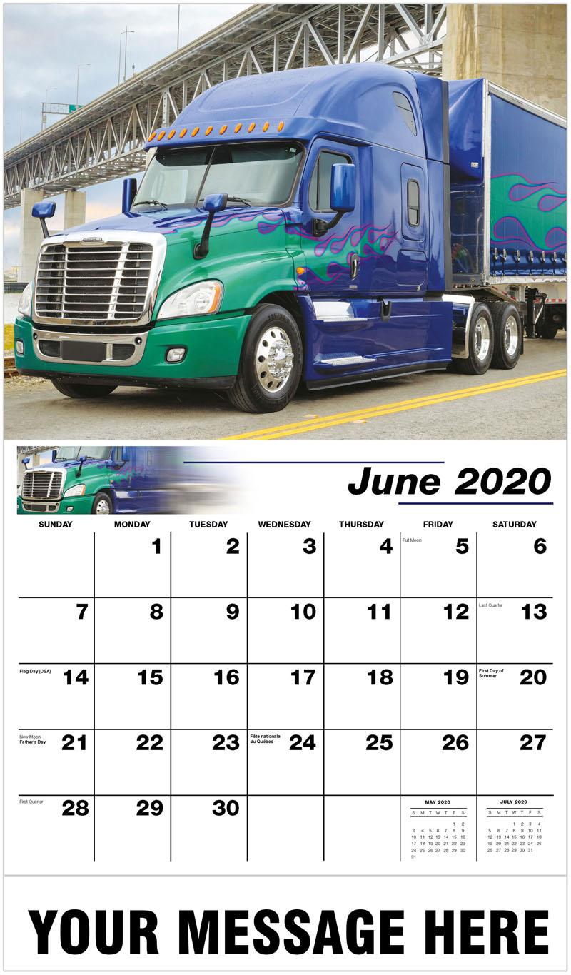 2020 Promo Calendar - 2014 Freightliner Cascadia Evolution - June