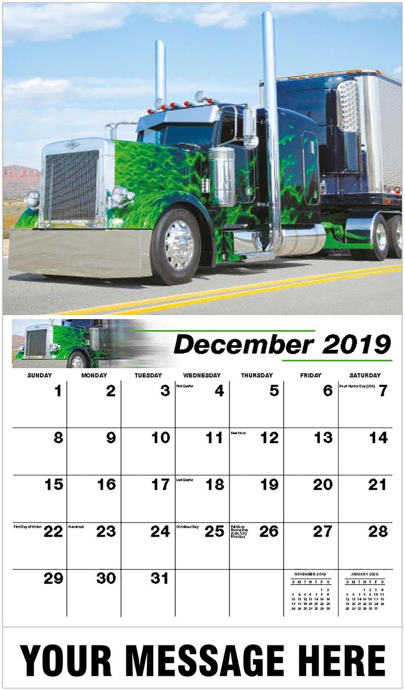 2020 Promotional Calendar - 2003 Peterbilt 379 - December_2019