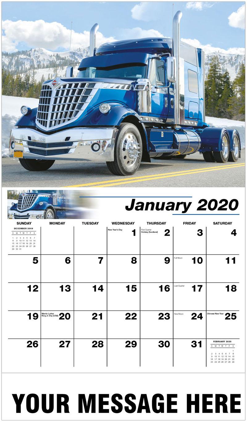 2020 Promotional Calendar - 2014 International Lonestar - January