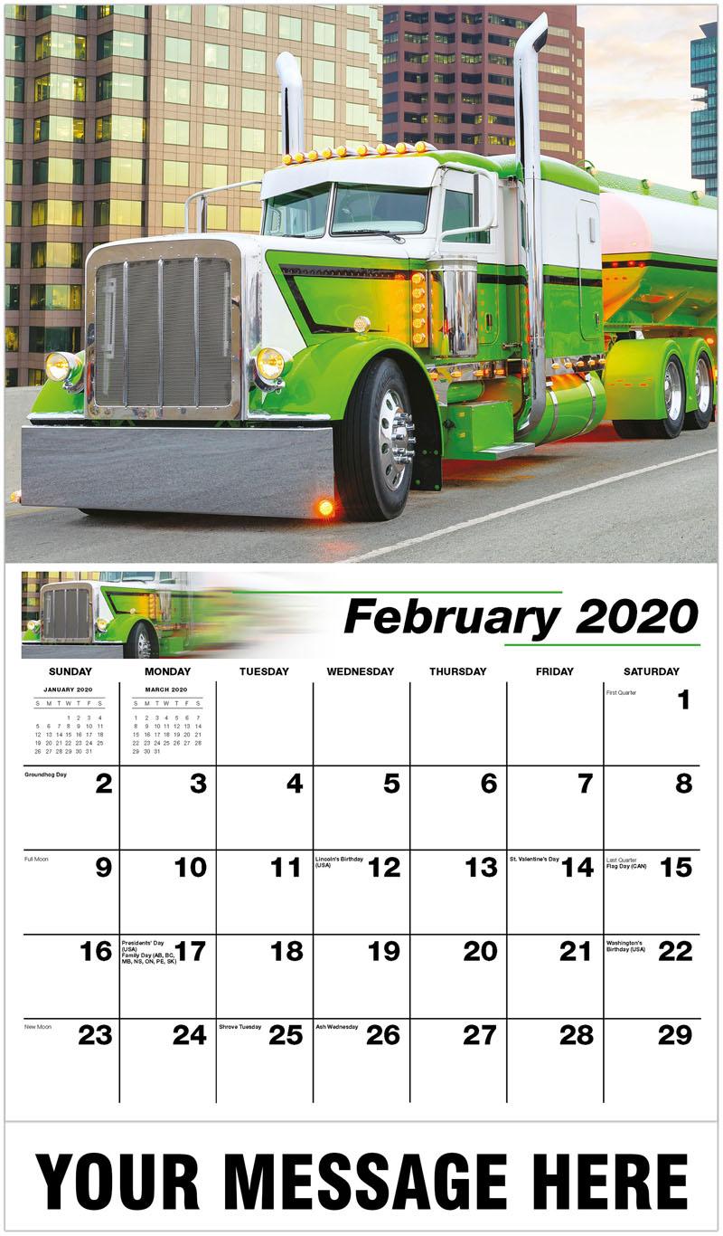 2020 Promotional Calendar - 2013 Peterbilt 389 - February