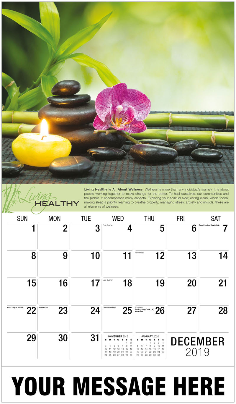 2020 Promotional Calendar - Purple Orchid And Bamboo - December_2019