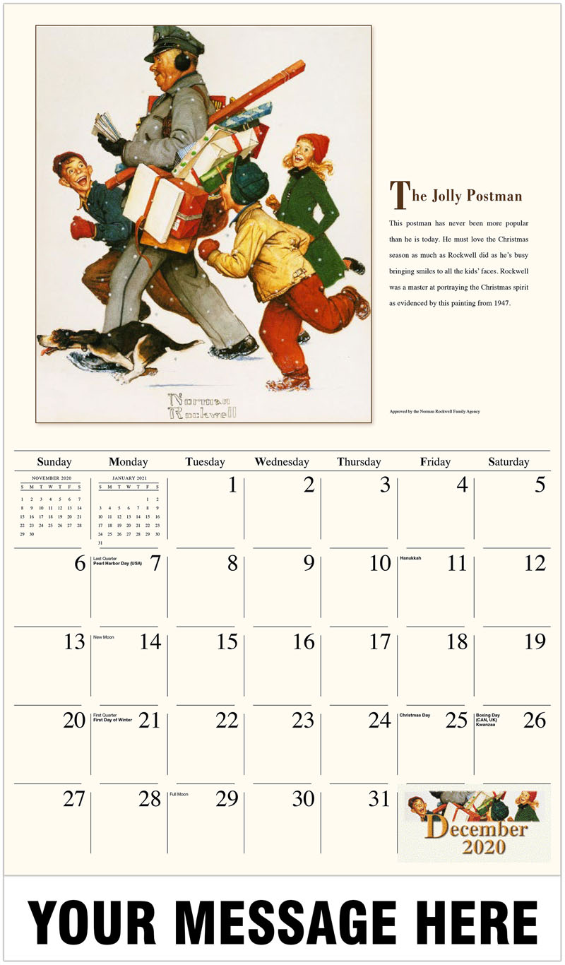 2020 Advertising Calendar - The Jolly Postman - December_2020