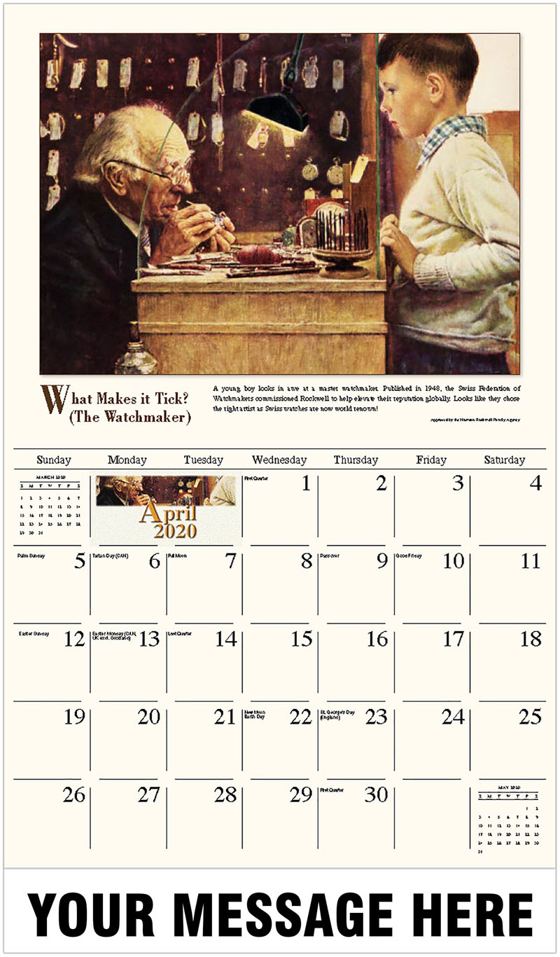 2020 Promo Calendar - What Makes It Tick? (The Watchmaker) - April
