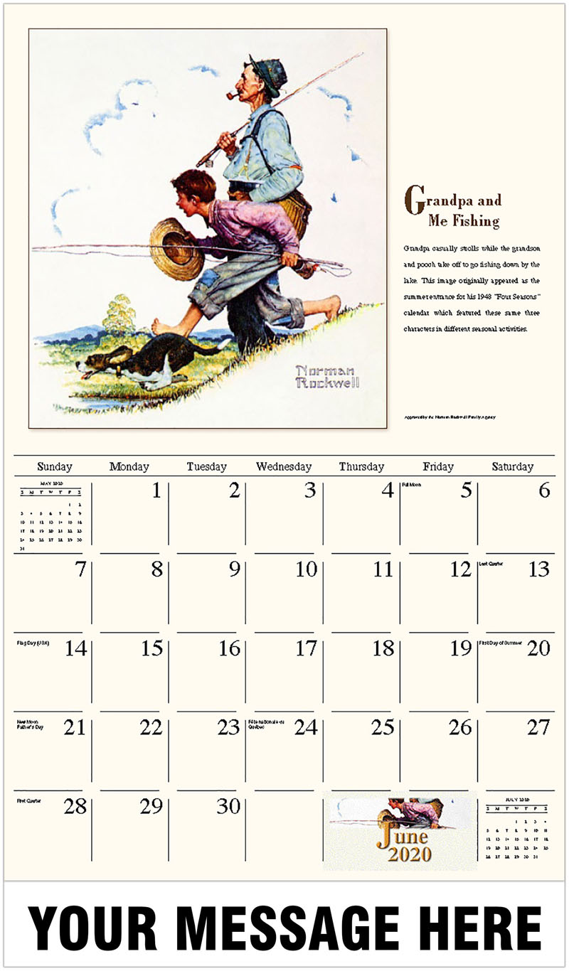 2020 Promo Calendar - Grandpa And Me Fishing - June