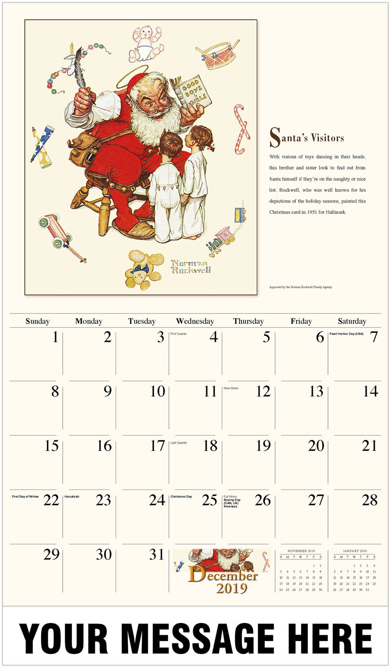 2020 Promotional Calendar - Santa'S Visitors - December_2019