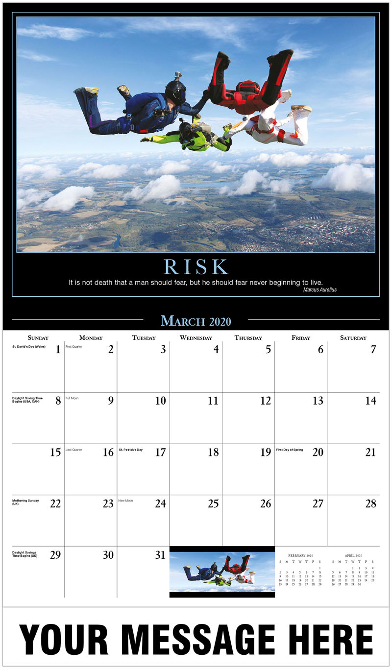 2020 Promo Calendar - Skydivers - March