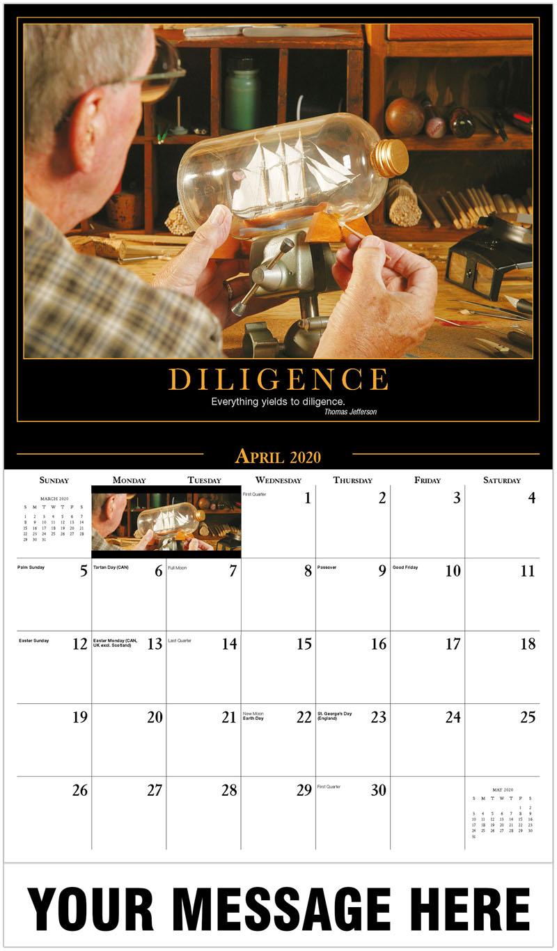 2020 Promo Calendar - Ship In Bottle - April