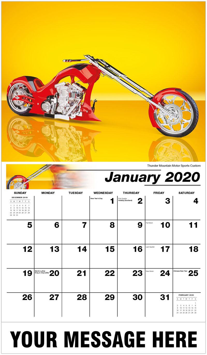 2020 Business Advertising Calendar - Thunder Mountain Motor Sports Custom - January
