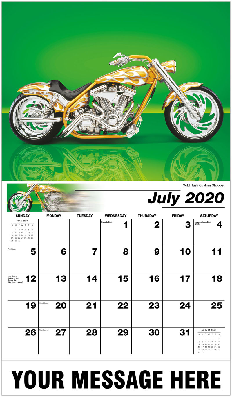 2020 Promo Calendar - Gold Rush Custom Chopper - July