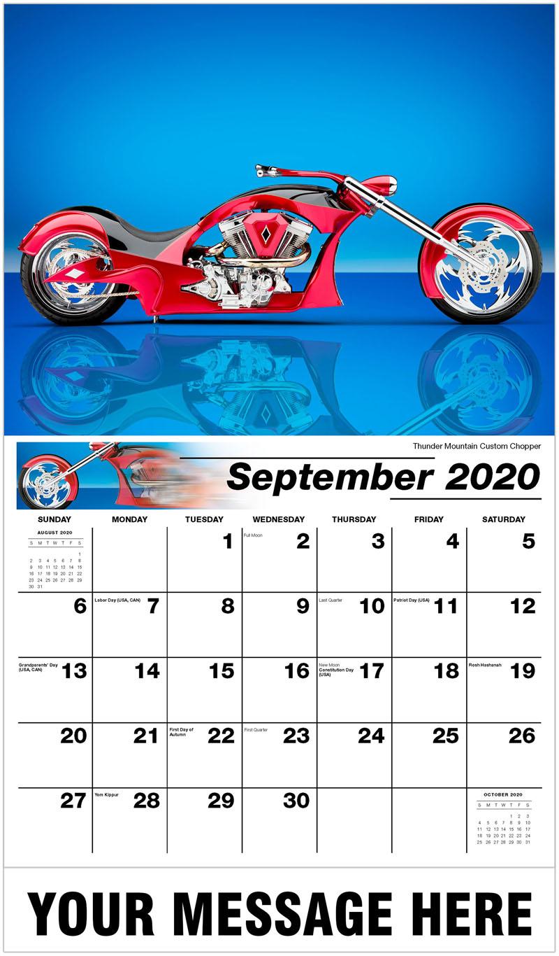 2020 Promo Calendar - Thunder Mountain Custom Chopper - September
