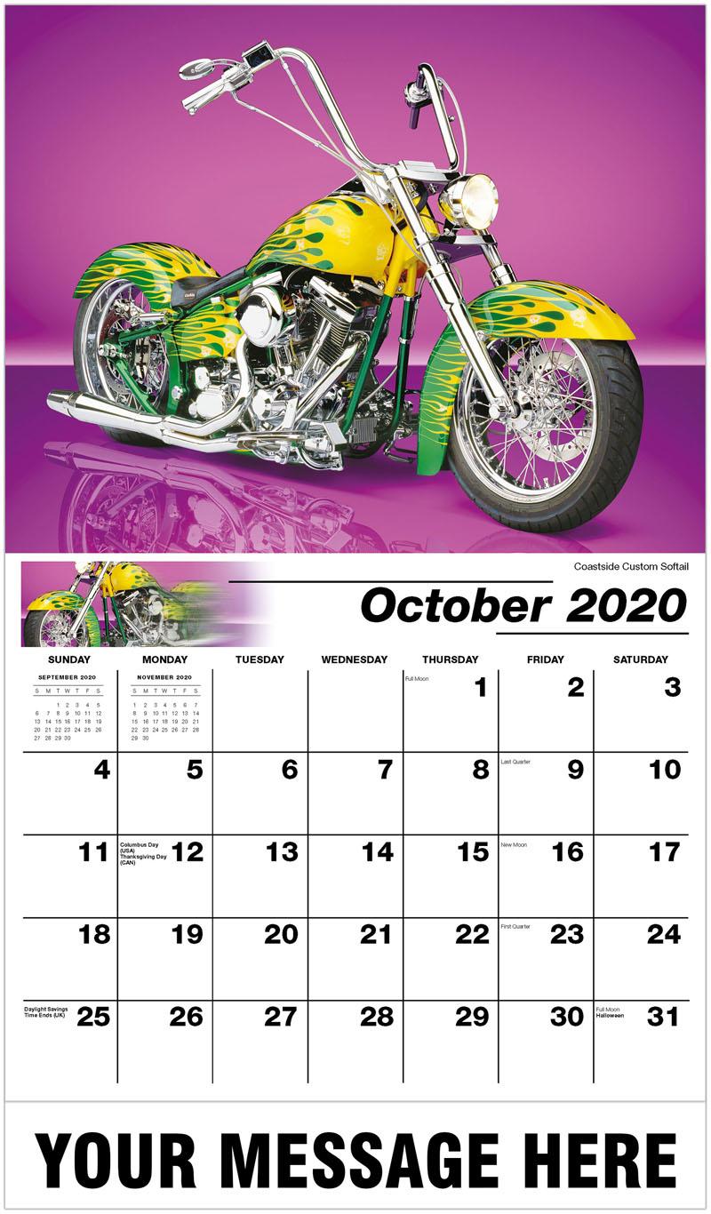 2020 Promo Calendar - Coastside Custom Softail - October