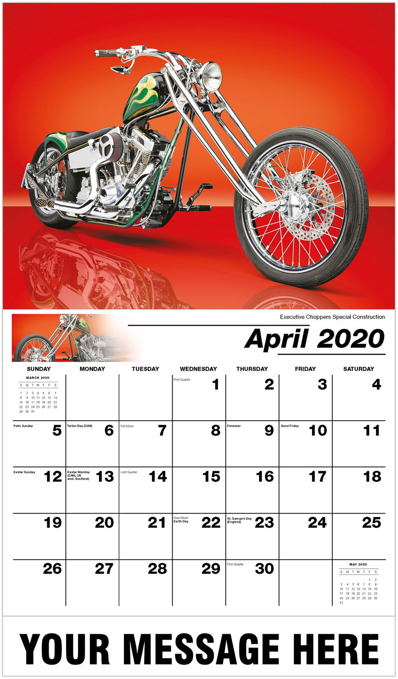 2020 Promotional Calendar - Executive Choppers Special Construction - April