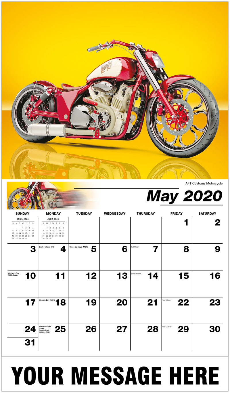 2020 Promotional Calendar - Aft Customs Motorcycle - May