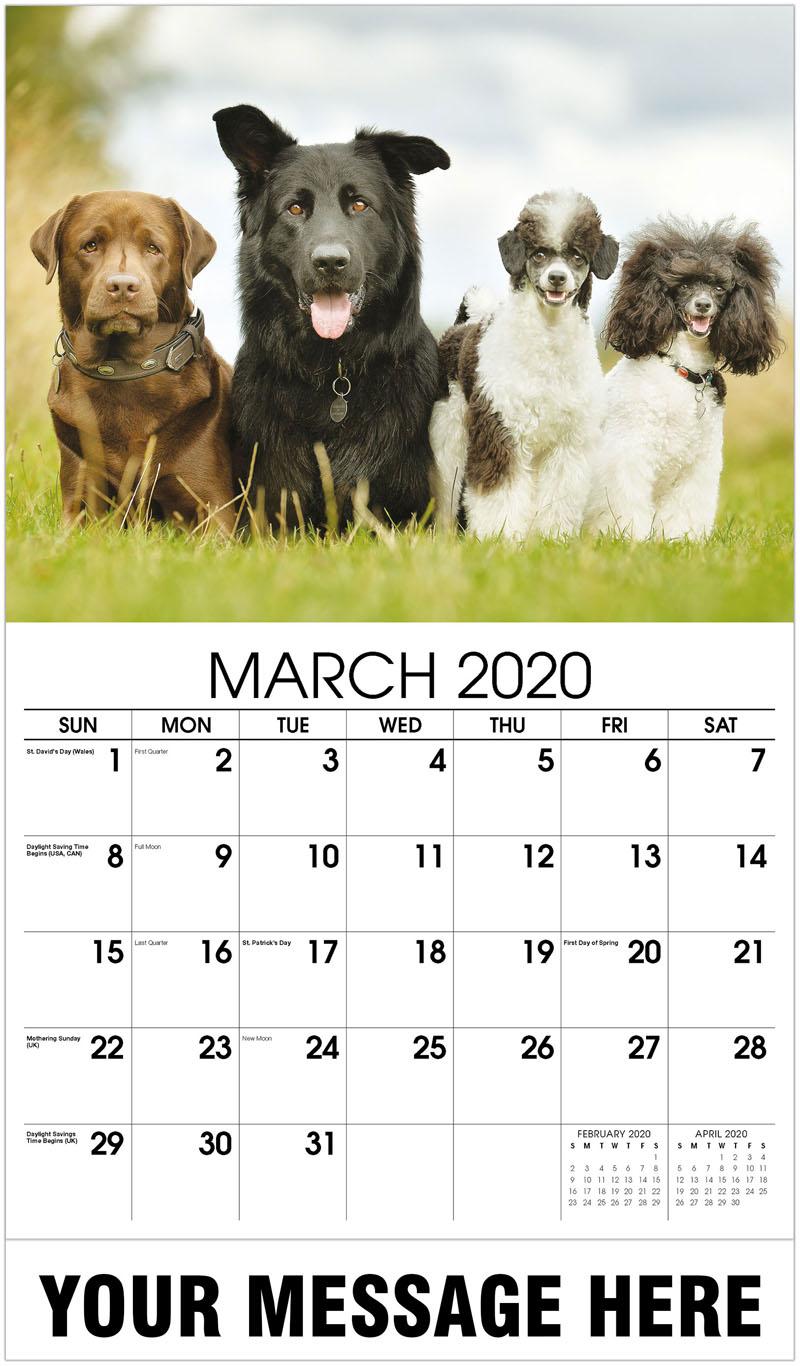 2020 Promo Calendar - Dog Family - March