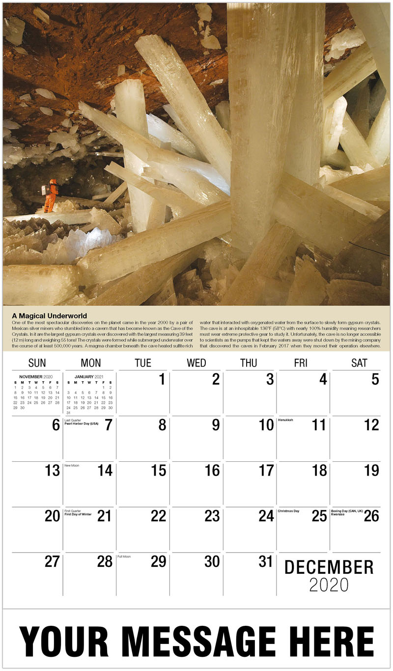2020 Advertising Calendar - Crystal Cave - December_2020