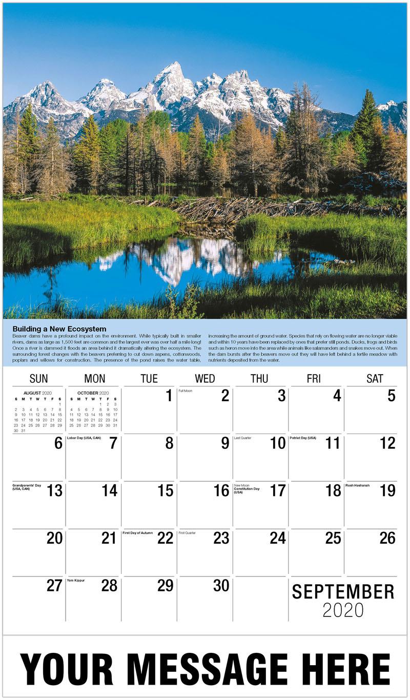 2020 Business Advertising Calendar - Beaver Dam - September