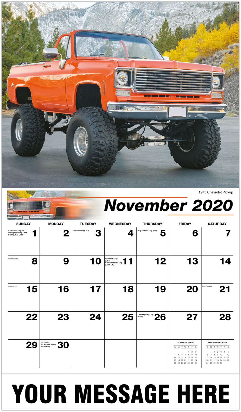 2020 Advertising Calendar - 1975 Chevrolet C/K Pickup Custom - November