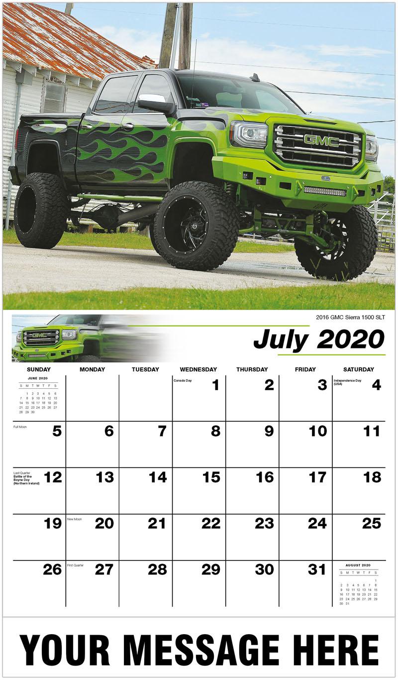 2020 Business Advertising Calendar - 2016 Gmc Sierra 1500 SLT - July