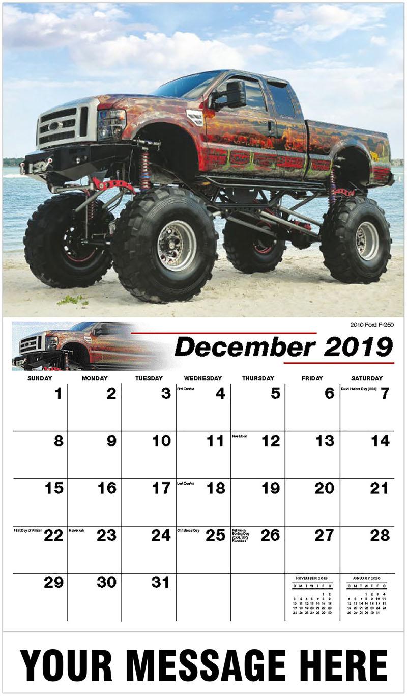 2020 Promotional Calendar - 2010 Ford F-250 - December_2019