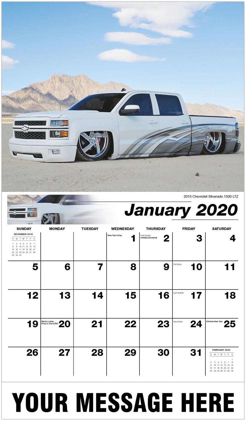 2020 Promotional Calendar - 2015 Chevrolet Silverado 1500 LTZ - January