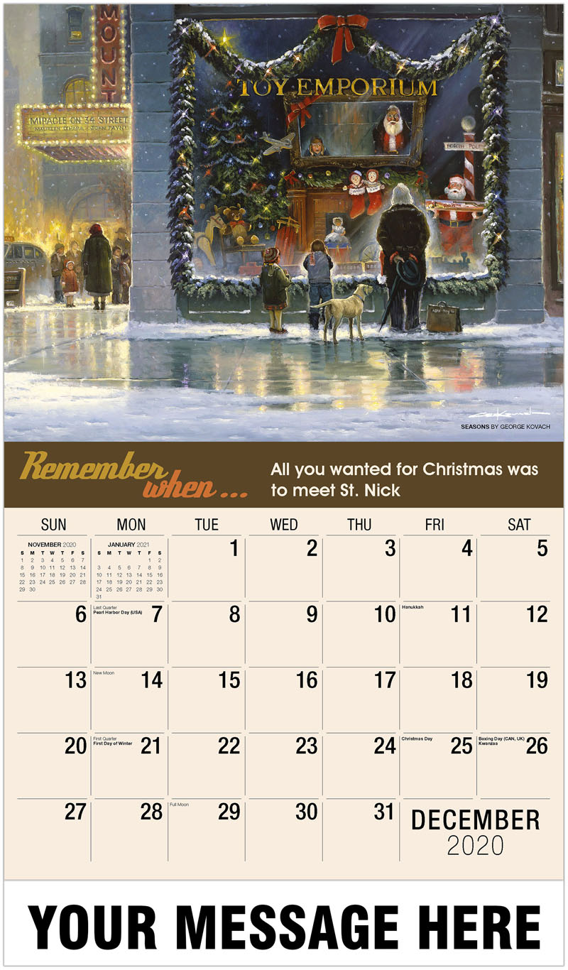 2020 Advertising Calendar - Seasons By George Kovach - December_2020