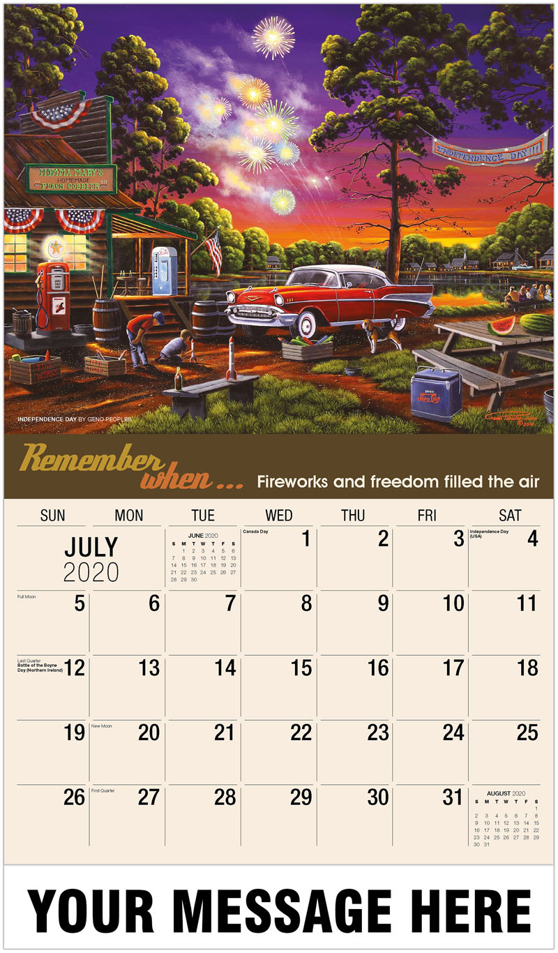 2020 Business Advertising Calendar - Independence Day By Geno Peoples - July