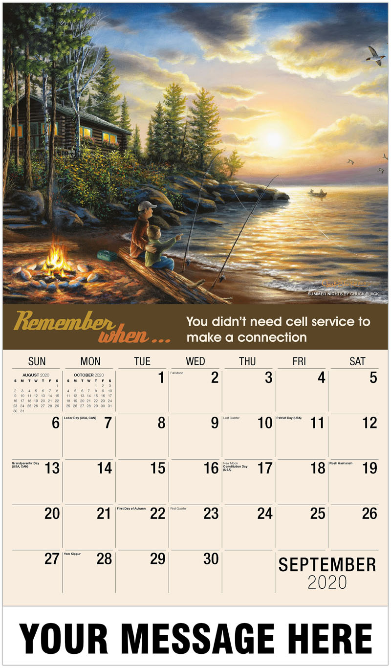 2020 Business Advertising Calendar - Summer Nights By Chuck Black - September