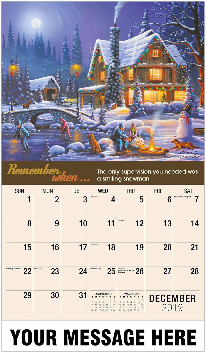 2020 Promo Calendar - Holiday Spirit By Geno Peoples - December_2019