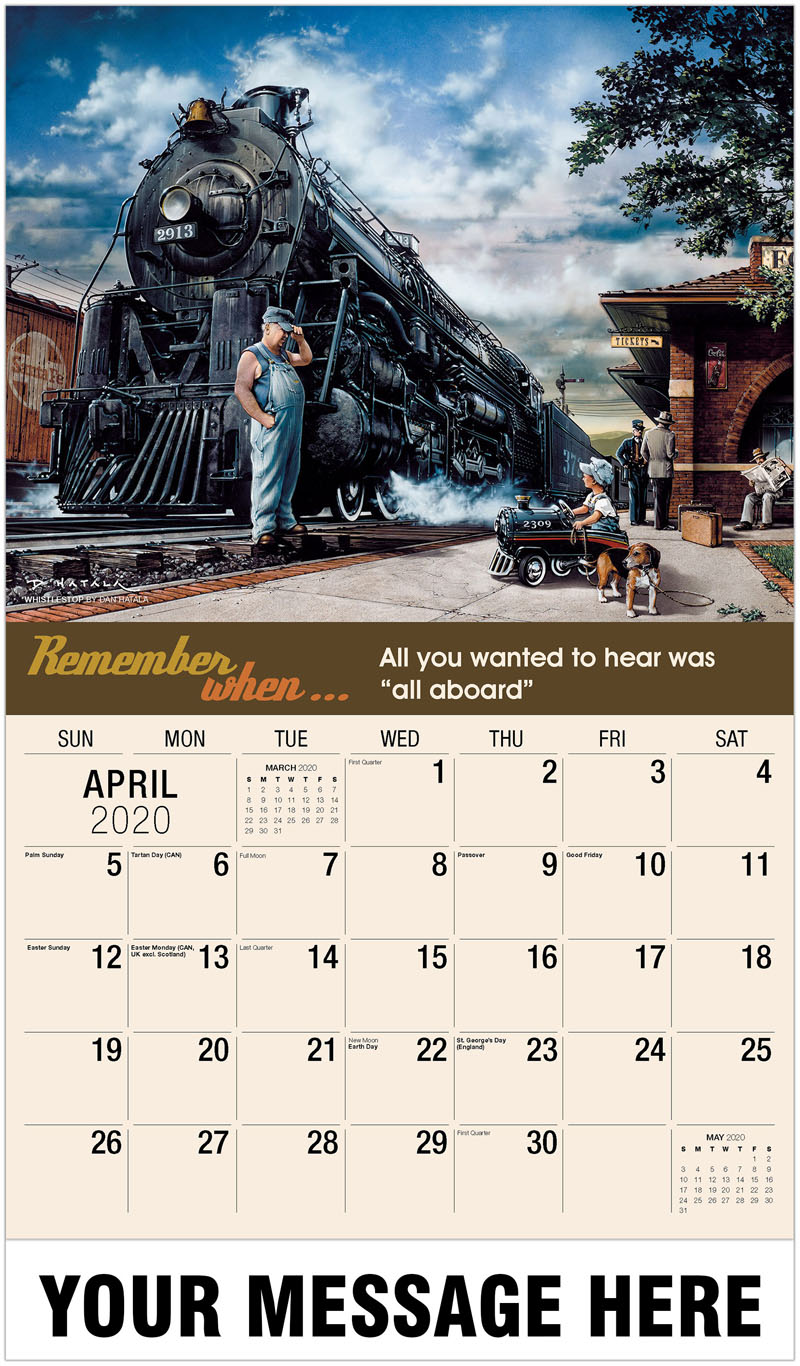 2020 Promotional Calendar - Whistlestop By Dan Hatala - April