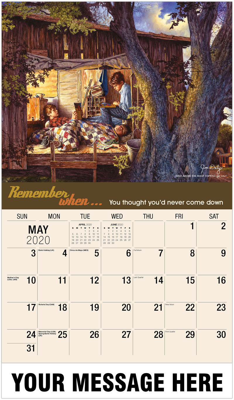 2020 Promotional Calendar - High Above The Roof-Tops By Jim Daly - May