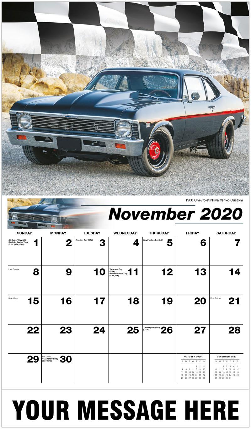 2020 Advertising Calendar - 1968 Chevrolet Nova Yenko Custom - November