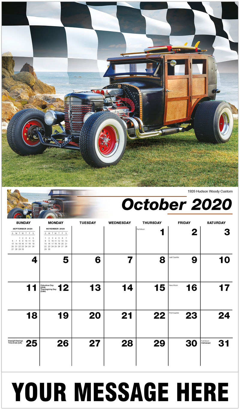 2020 Business Advertising Calendar - 1926 Hudson Woody Custom - October