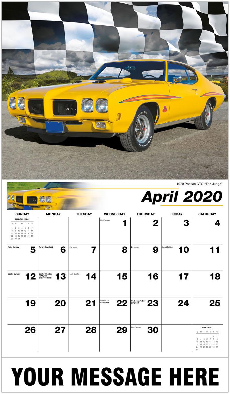 2020 Promo Calendar - 1970 Pontiac GTO