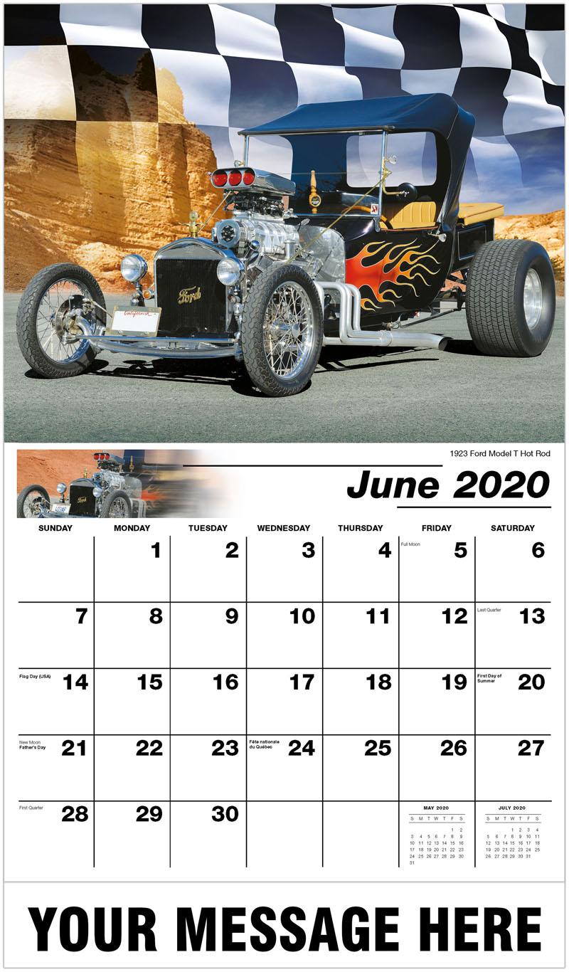 2020 Promo Calendar - 1923 Ford Model T Hot Rod - June