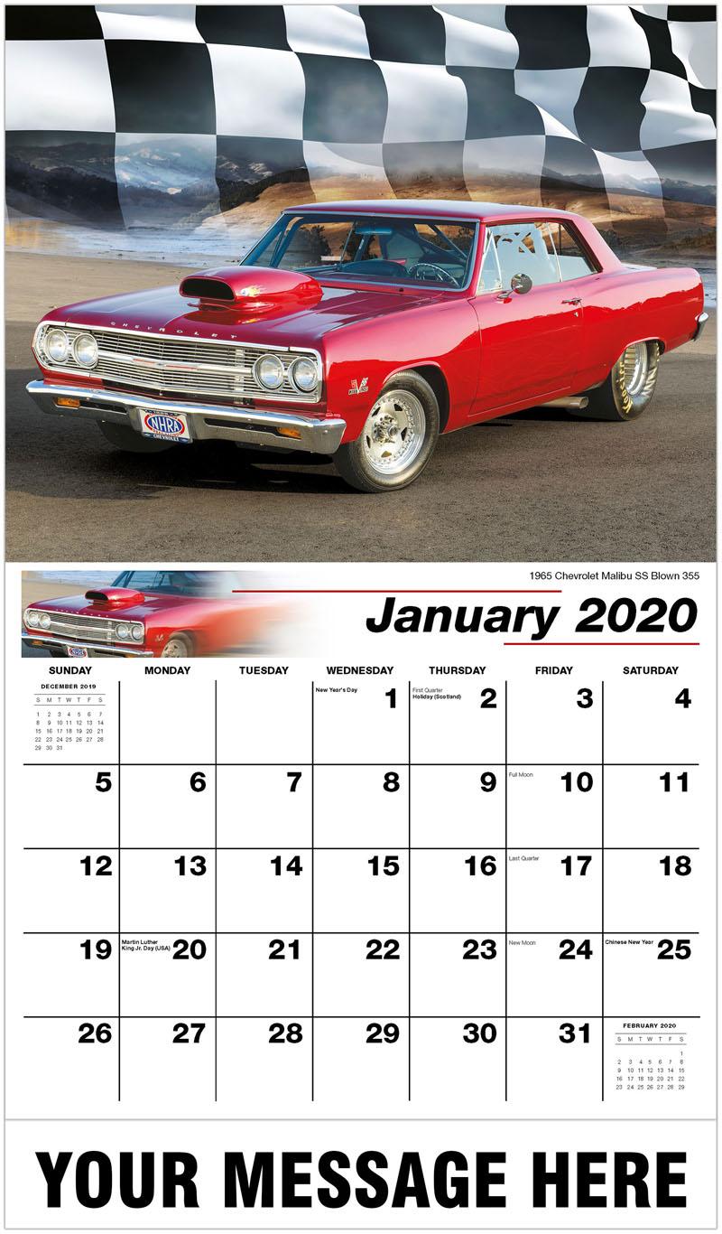 2020 Promotional Calendar - 1965 Chevrolet Malibu SSs Blown 355 - January