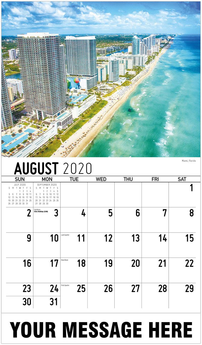 2020 Business Advertising Calendar - Campo De Girasol, Kansas Sunflower Field, Kansas - August