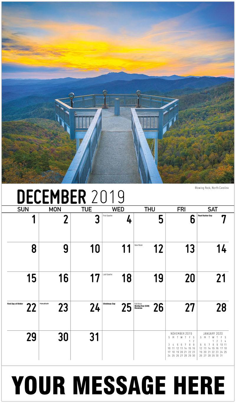 2020 Promo Calendar - Blowing Rock, North Carolina - December_2019