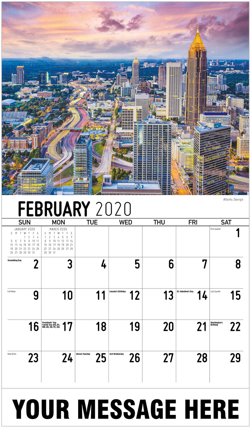 2020 Promo Calendar - Atlanta, Georgia - February