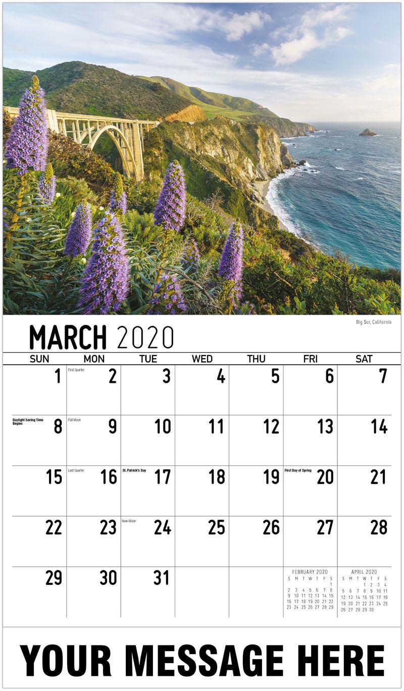 2020 Promotional Calendar - Big Sur, California - March
