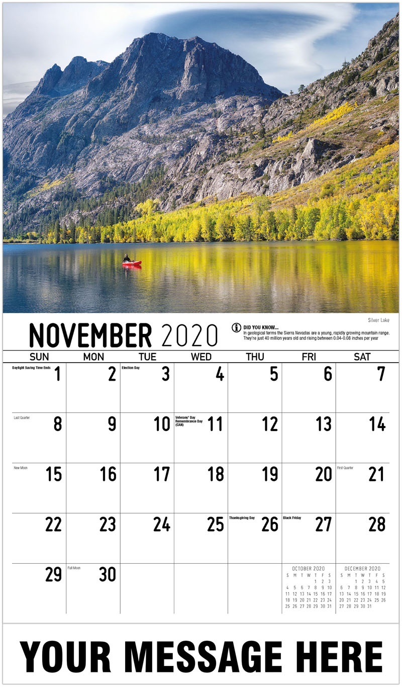 2020 Advertising Calendar - Silver Lake - November