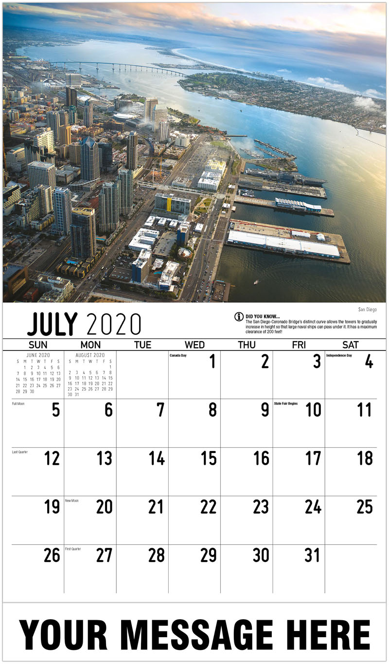 2020 Business Advertising Calendar - San Diego - July