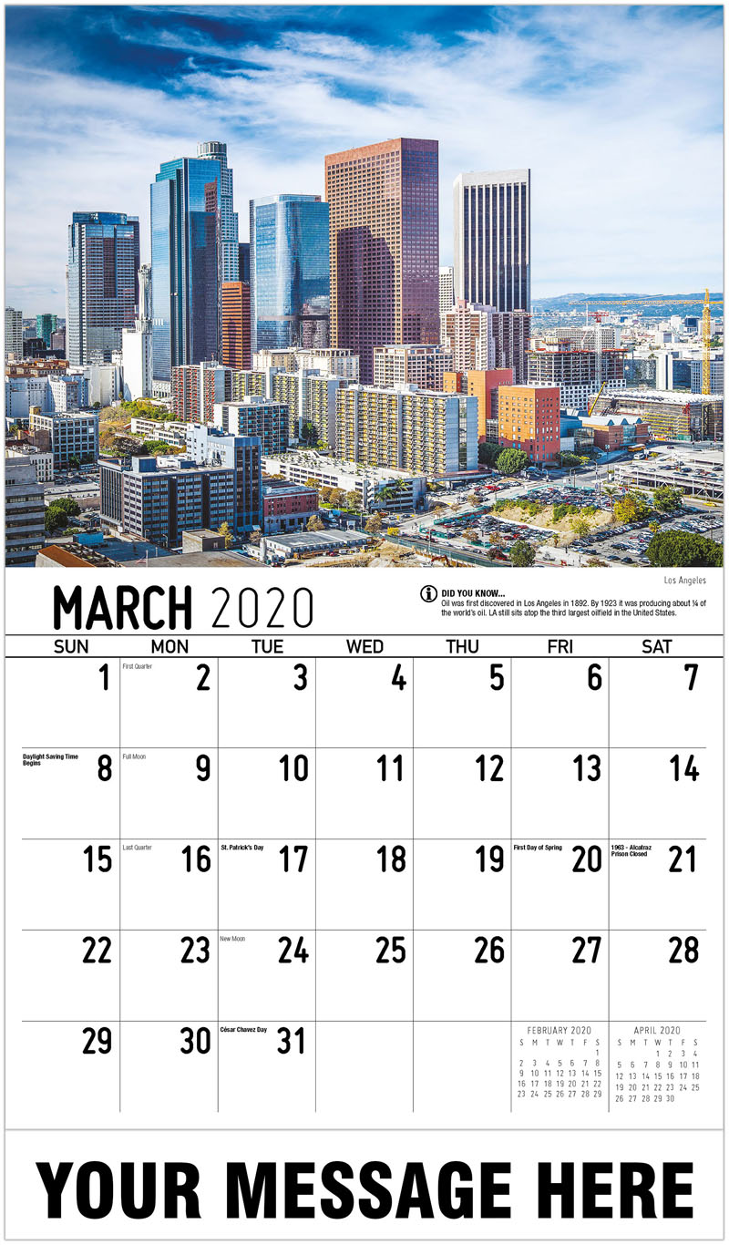 2020 Promo Calendar - Los Angeles - March