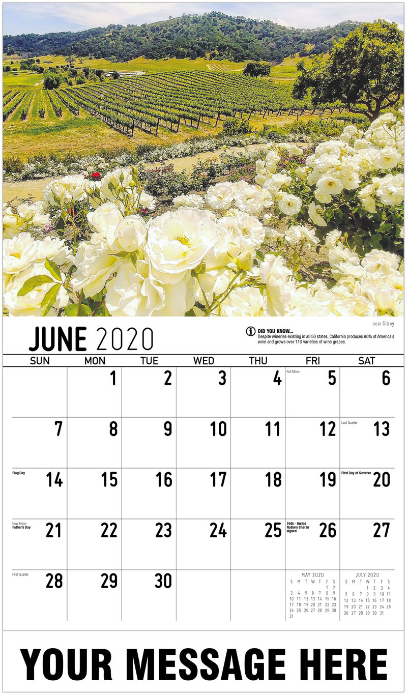 2020 Promo Calendar - Near Gilroy - June