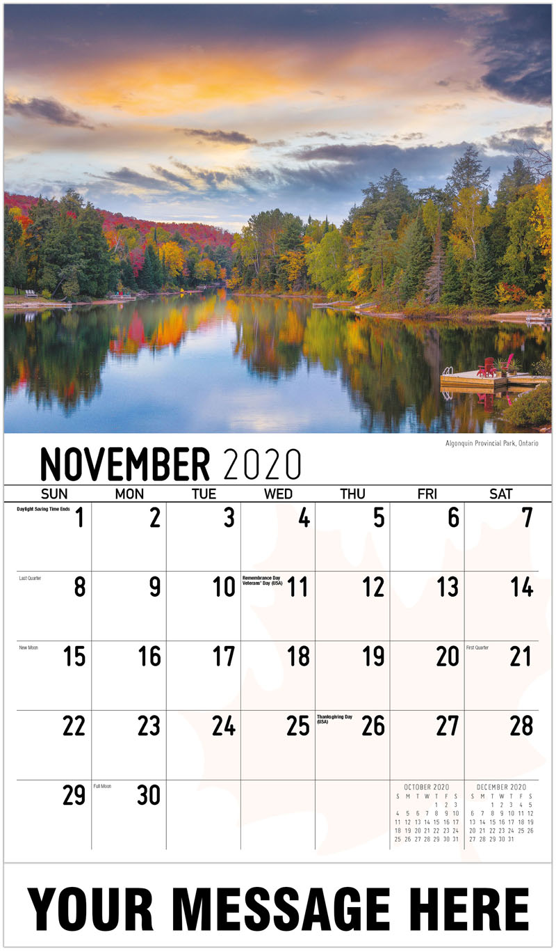 Business Advertising Calendar Scenes Of Canada Low As 65 162