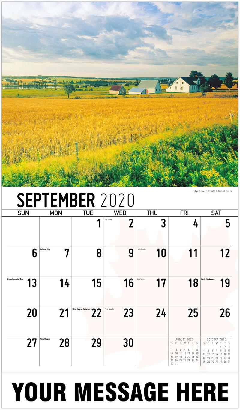 2020 Promo Calendar - Clyde River, Prince Edward Island Clyde River, Île-Du-Prince-Édouard - September