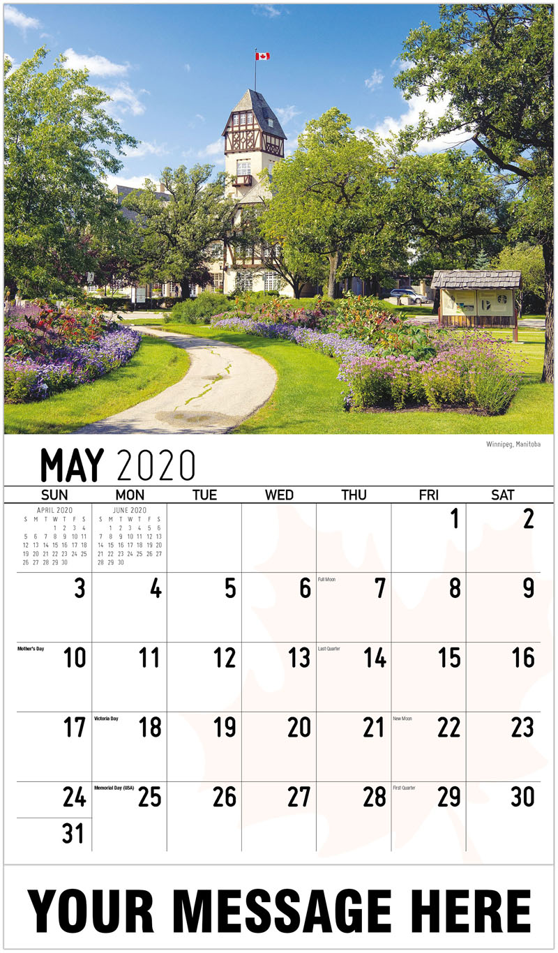 2020 Promotional Calendar - Winnipeg, Manitoba - May