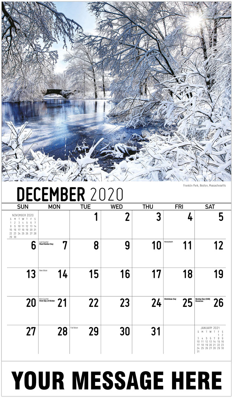 2020 Advertising Calendar - Franklin Park, Boston, Massachusetts - December_2020