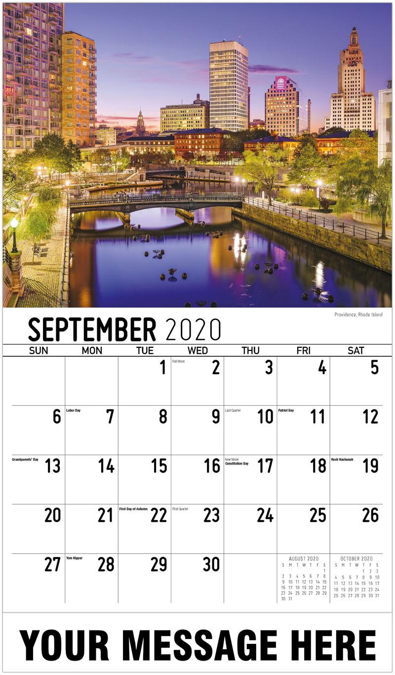 2020 Business Advertising Calendar - Providence, Rhode Island - September