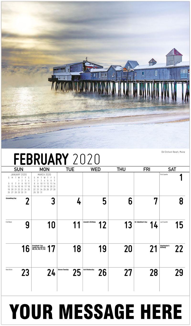 2020 Promo Calendar - Old Orchard Beach, Maine - February